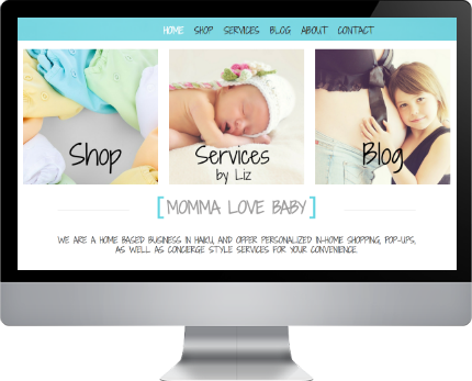 baby boutique web design hawaii