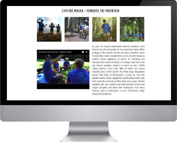online shop moana high school maui web design